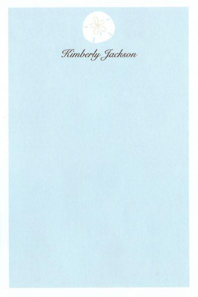 Sand Dollar Notepad