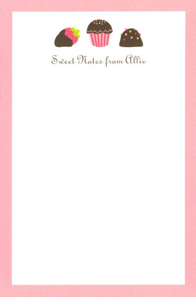 Boatman Geller Personalized Sweets Notepad Discounted