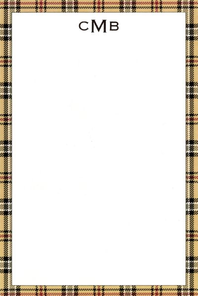 Boatman Geller Personalized Town Plaid Notepad Discounted
