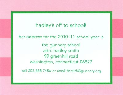 Pink Rugby Invitation or Announcement Personalized by Boatman Geller