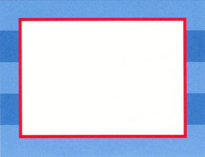 Blue Rugby Flat Note Card Personalized by Boatman Geller