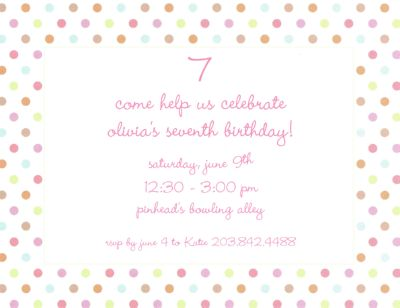 Pink Multi Confetti Invitation or Announcement Personalized by Boatman Geller