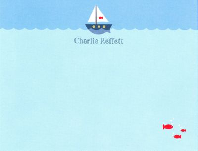 Sailboat Invitation or Announcement Personalized by Boatman Geller