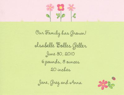 Garden Invitation or Announcement Personalized by Boatman Geller