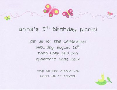 Butterfly Invitation or Announcement Personalized by Boatman Geller