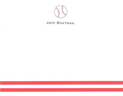 Baseball Invitation or Announcement Personalized by Boatman Geller