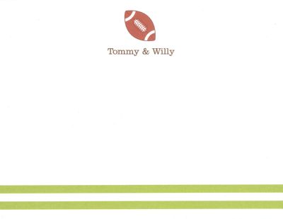 Football Invitation or Announcement Personalized by Boatman Geller