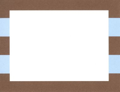 Blue and Brown Rugby Flat Note Card Personalized by Boatman Geller