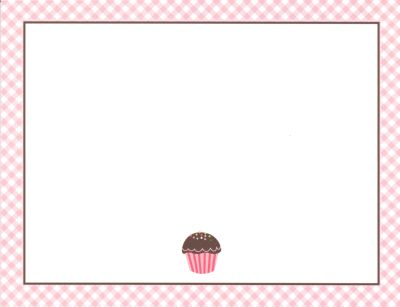 Cupcake Flat Note Card Personalized by Boatman Geller
