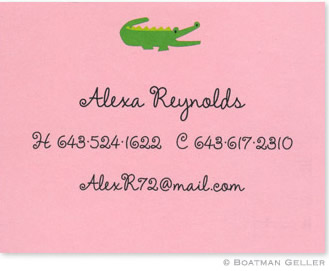 Alligator Pink Invitation or Announcement Personalized by Boatman Geller