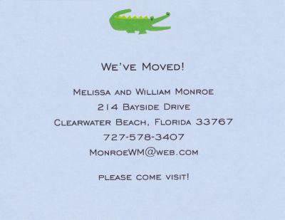 Alligator Blue Invitation or Announcement Personalized by Boatman Geller