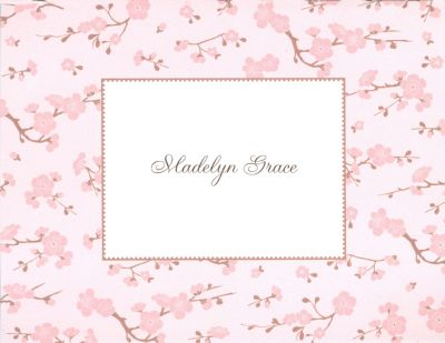 Baby Blossom Foldover Note Personalized by Boatman Geller
