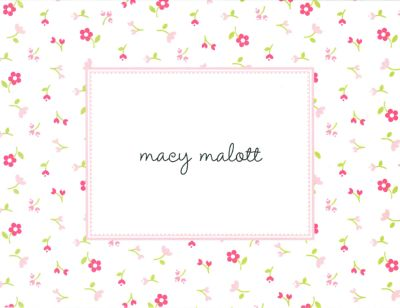 Tiny Flower Foldover Note Personalized by Boatman Geller