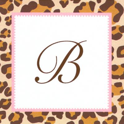 Leopard Square Gift Sticker Personalized by Boatman Geller
