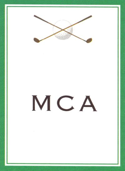 Golf Rectangle Gift Sticker Personalized by Boatman Geller