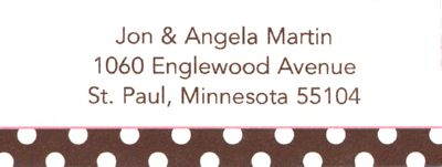 Brown Polka Dot Return Address Label