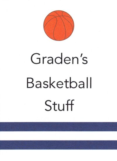 Basketball Rectangular Gift Sticker Personalized by Boatman Geller