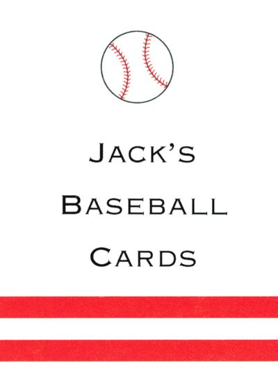 Baseball Rectangle Gift Sticker Personalized by Boatman Geller