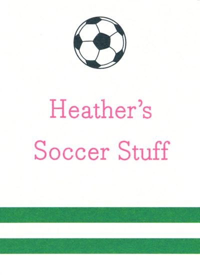 Soccer Rectangle Gift Sticker Personalized by Boatman Geller