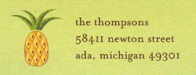 Pineapple Return Address Label