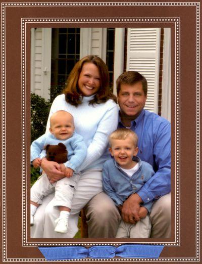 Beaded Brown Folded Digital Photo Card