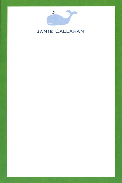 Boatman Geller Personalized Whale Notepad Discounted
