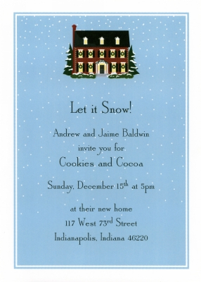 Christmas House Flat Invitation Personalized by Boatman Geller