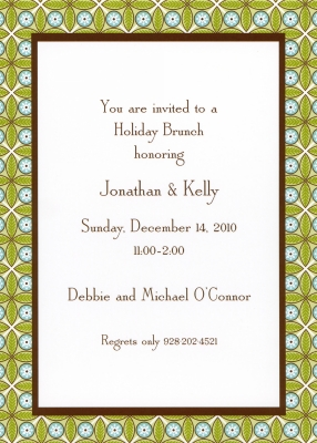 Tile Green and Blue Flat Invitation Personalized by Boatman Geller