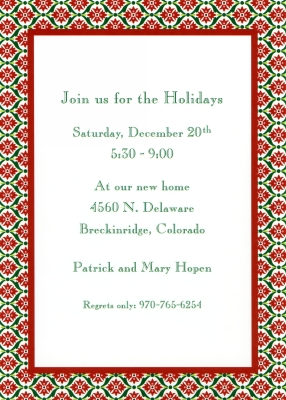 Ornamental Red Flat Invitation Personalized by Boatman Geller