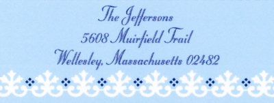 Border Lght blue Address Label