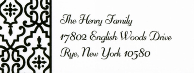 Wrought Iron Black Address Label