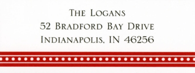 Beaded Red Address Label