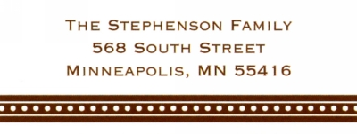 Beaded Brown Address Label