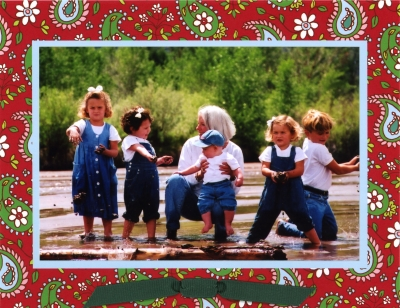 Paisley Red Folded Digital Photo Card Personalized by Boatman Geller