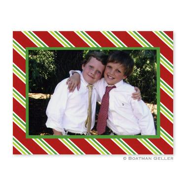 Repp Tie Red Folded Digital Photo Card Personalized by Boatman Geller