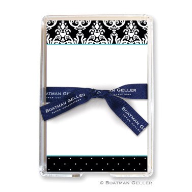 Block Madison Black 150 Loose Sheets in Acrylic Holder Personalized by Boatman Geller
