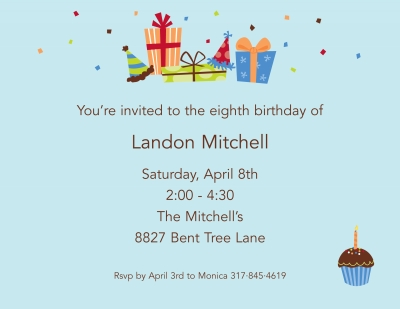 Birthday Sky Invitation or Announcement Personalized by Boatman Geller