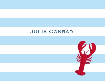 Stripe Lobster Stationery Personalized by Boatman Geller
