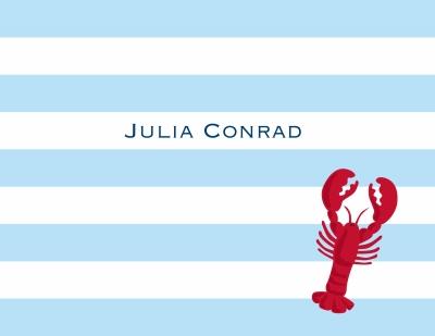 Stripe Lobster Stationery Personalized by Boatman Geller