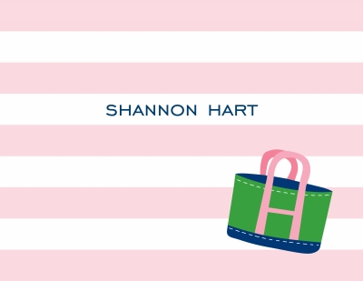 Stripe Tote Stationery Personalized by Boatman Geller