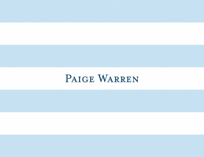 Awning Stripe Light Blue Stationery Personalized by Boatman Geller