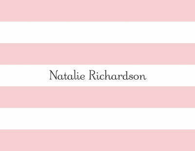 Awning Stripe Light Pink Stationery Personalized by Boatman Geller