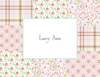 Riley Patch Girl Stationery Personalized by Boatman Geller