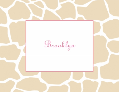 Giraffe Tan Stationery Personalized by Boatman Geller