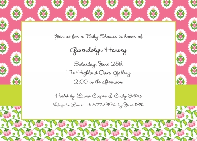 Provincial Pink Invitation Personalized by Boatman Geller