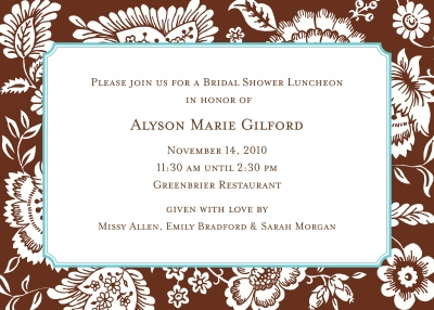 Savannah Brown Invitation or Announcement Personalized by Boatman Geller