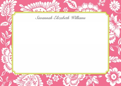 Savannah Pink Stationery Personalized by Boatman Geller