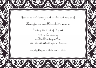 Madison Black Invitation Personalized by Boatman Geller