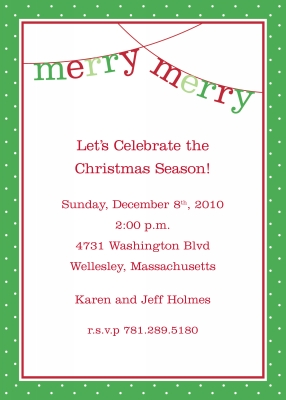 Banner Merry Merry Flat Invitation Personalized by Boatman Geller