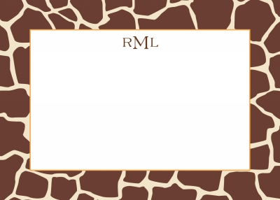 Giraffe Brown Stationery Personalized by Boatman Geller
